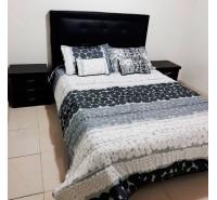 Colcha para cama bordados en piedra clásica