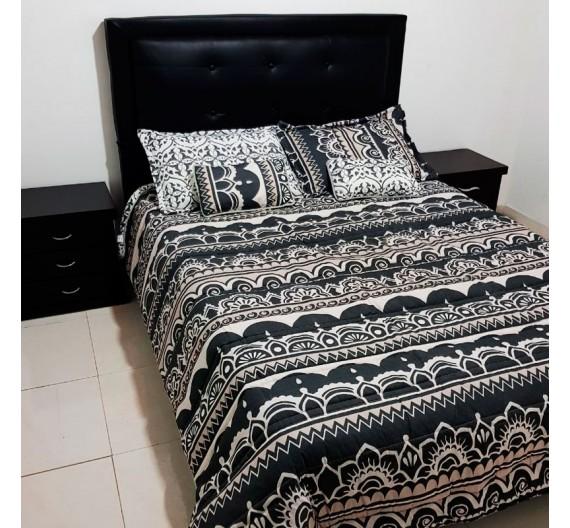 Colcha para cama bordados en círculos