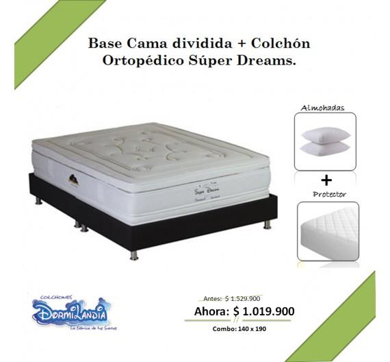 Promoción Base cama + Colchón ortopédico