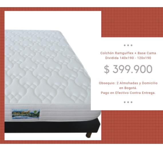 Promoción Base cama + Colchón Ramguiflex